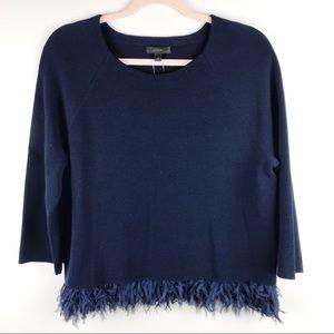 J.Crew NWT Collection Chiffon Fringe Sweater Sz S